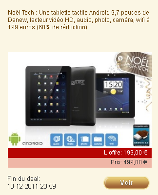groupon propose une tablette tactile 199 sous android 2 3 androidphones fr. Black Bedroom Furniture Sets. Home Design Ideas